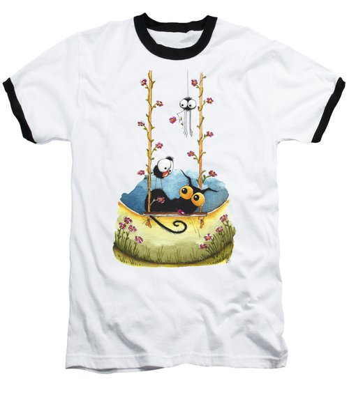 Summer Swing Baseball T-Shirt by Lucia Stewart