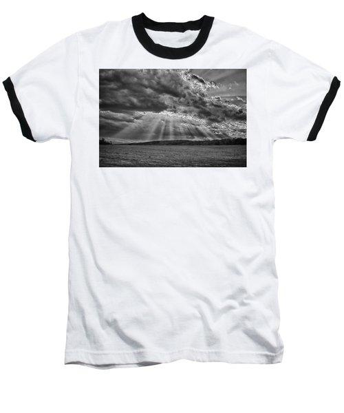 Sun Rays Over Vann's Valley Baseball T-Shirt