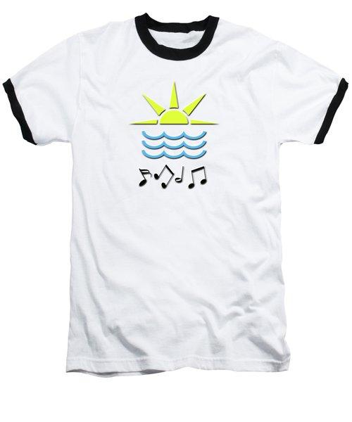 Sun, Sea And Music Baseball T-Shirt by Linda Prewer