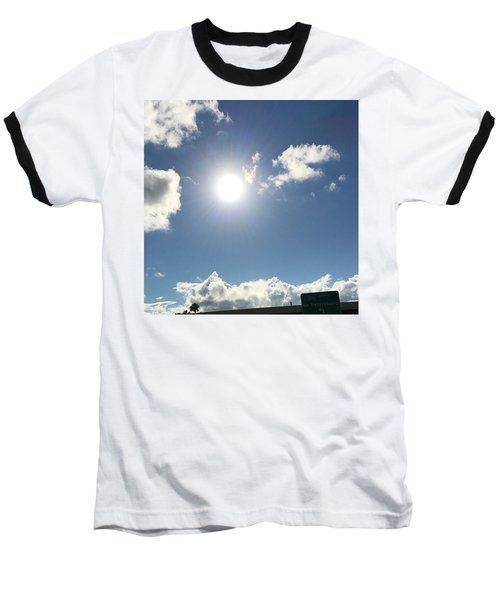 Sun Sky Angel Baseball T-Shirt