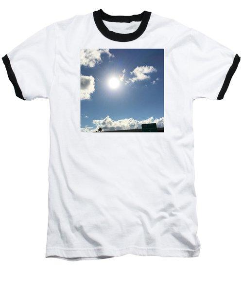 Sun Sky Angel Baseball T-Shirt