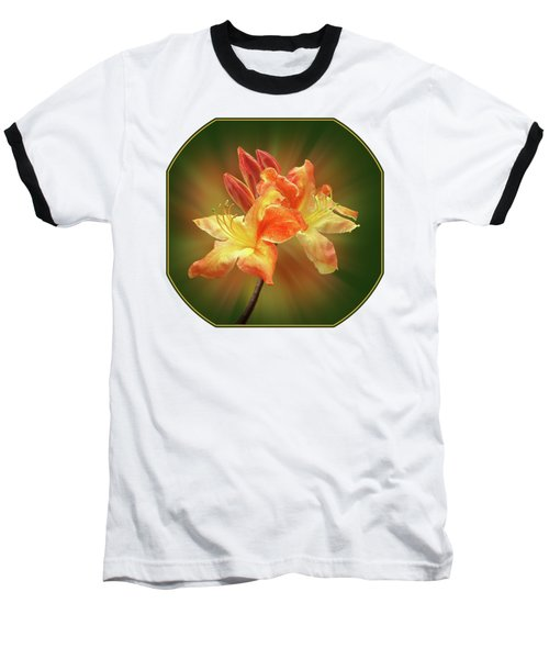Sunburst Orange Azalea Baseball T-Shirt