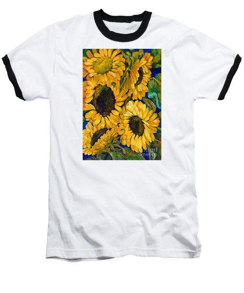 Sunflower Faces Baseball T-Shirt