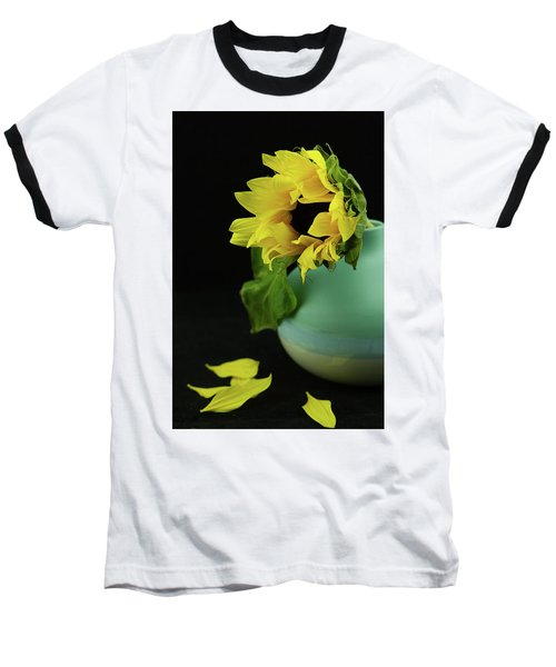 Sunflower In Blue Pottery Baseball T-Shirt