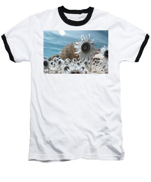 Sunflower Infrared  Baseball T-Shirt