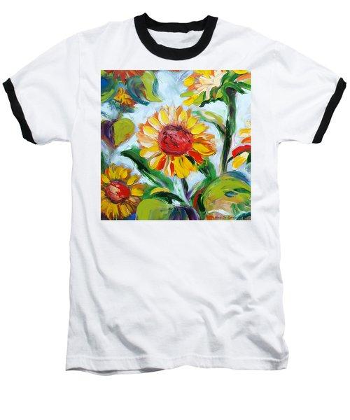 Sunflowers 6 Baseball T-Shirt