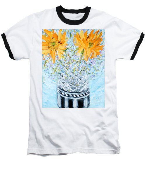 Sunflowers In A Vase. Painting Baseball T-Shirt