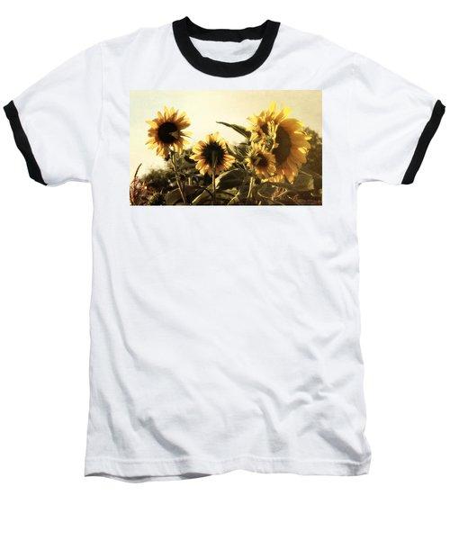 Sunflowers In Tone Baseball T-Shirt