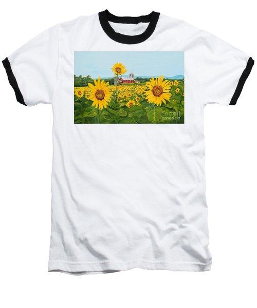 Sunflowers On Route 45 - Pennsylvania- Autumn Glow Baseball T-Shirt