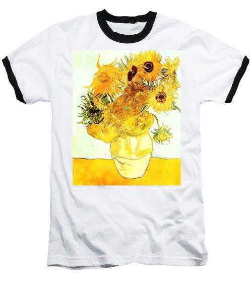 Sunflowers Van Gogh Baseball T-Shirt