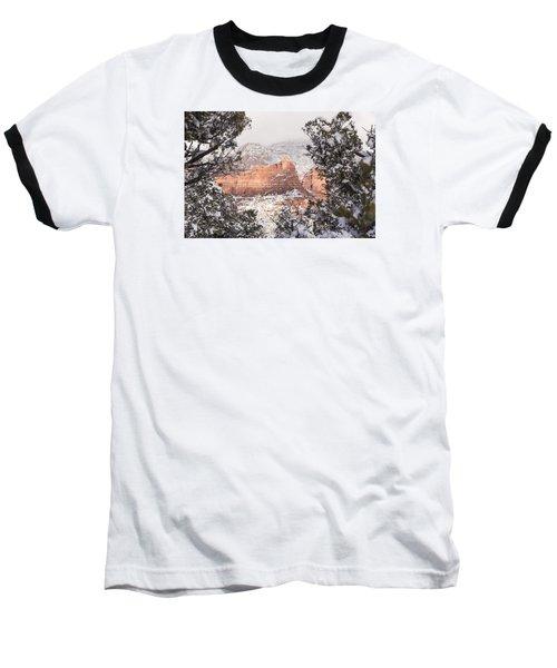 Baseball T-Shirt featuring the photograph Sunlit Red by Laura Pratt