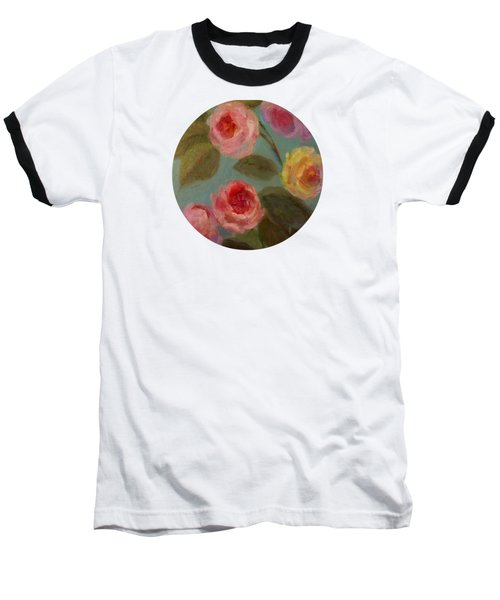 Sunlit Roses Baseball T-Shirt by Mary Wolf