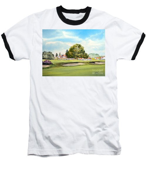 Baseball T-Shirt featuring the painting Sunningdale Golf Course 18th Green by Bill Holkham