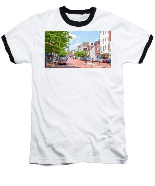 Baseball T-Shirt featuring the photograph Sunny Day On Main by Charles Kraus