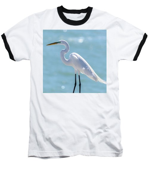 Baseball T-Shirt featuring the photograph Sunny Egret by Steven Sparks