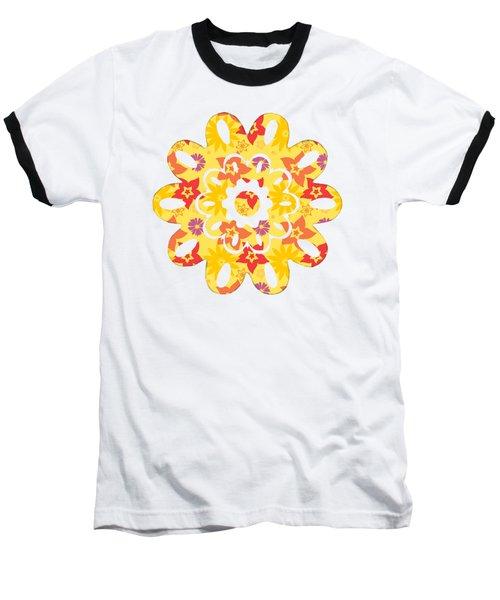 Sunny Flowers Baseball T-Shirt
