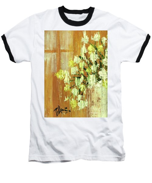 Sunny Flowers Baseball T-Shirt by P J Lewis