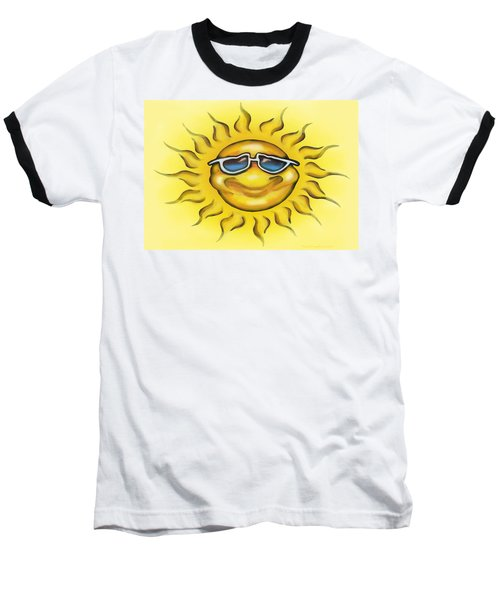 Baseball T-Shirt featuring the painting Sunny by Kevin Middleton
