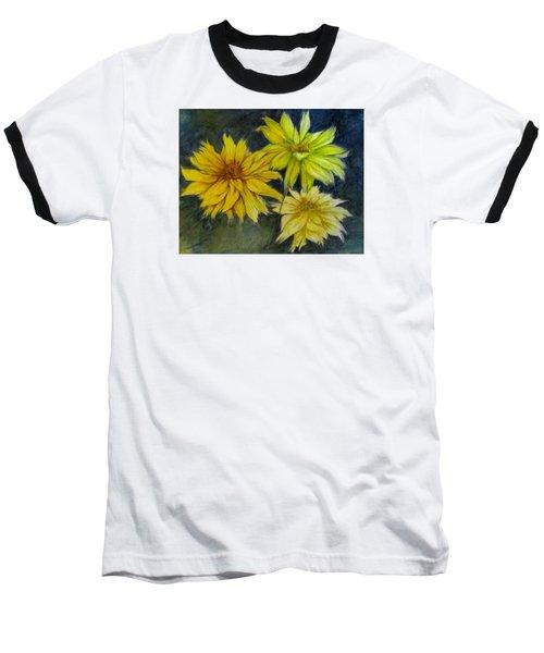 Sunny Yellow Baseball T-Shirt by Barbara O'Toole
