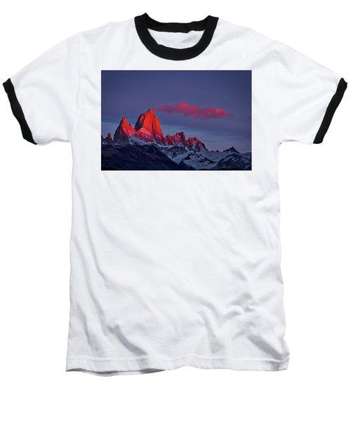 Sunrise At Fitz Roy #3 - Patagonia Baseball T-Shirt