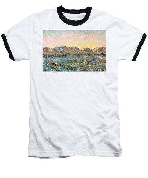 Sunrise At The Pond Baseball T-Shirt