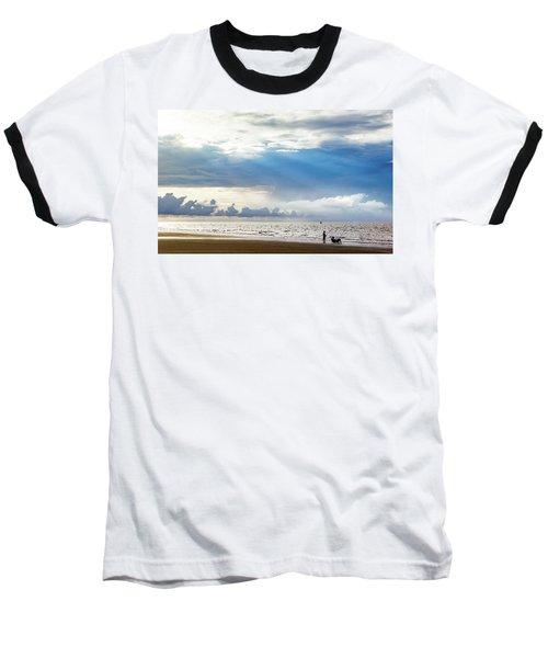 Sunrise Beach Fishing Baseball T-Shirt