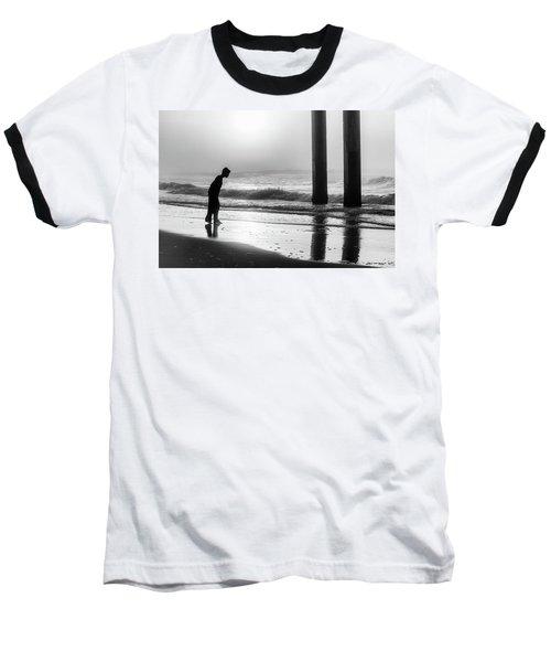Baseball T-Shirt featuring the photograph Sunrise Boy In Foggy Beach by John McGraw