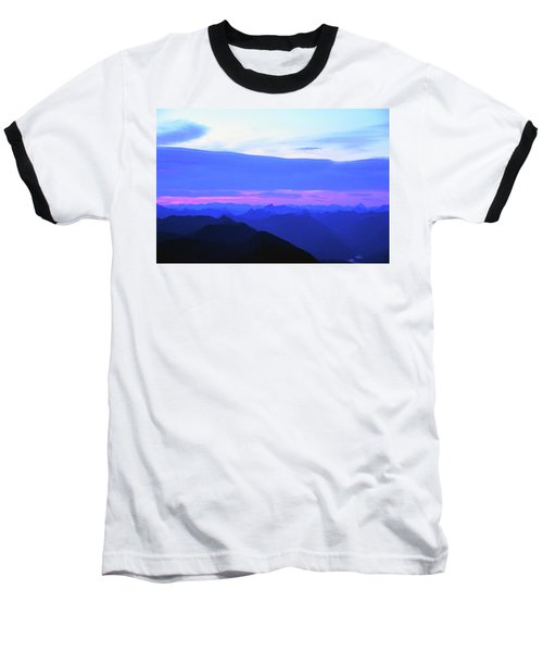 Sunrise From Pilchuck Summit Baseball T-Shirt