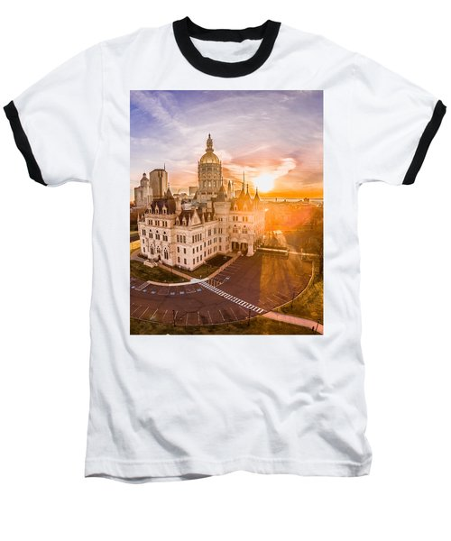 Sunrise In Hartford Connecticut Baseball T-Shirt by Petr Hejl