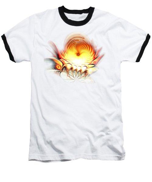 Baseball T-Shirt featuring the digital art Sunrise In Neverland by Anastasiya Malakhova