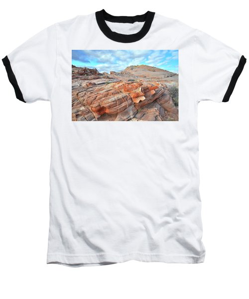 Sunrise On Sandstone In Valley Of Fire Baseball T-Shirt by Ray Mathis