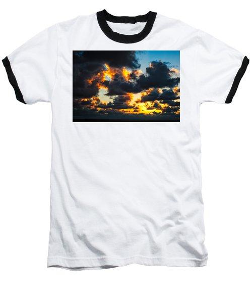 Sunrise On The Atlantic #15 Baseball T-Shirt
