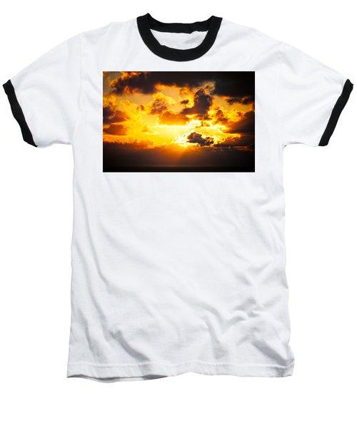 Sunrise On The Atlantic #17 Baseball T-Shirt