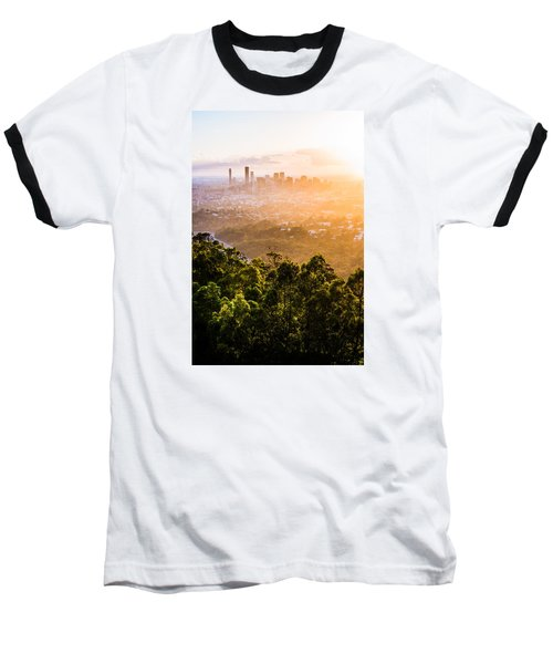 Sunrise Over Brisbane Baseball T-Shirt by Parker Cunningham