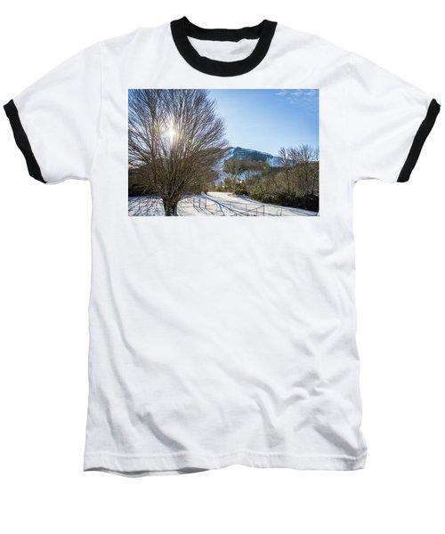 Sunrise Over Cataloochee Ski Baseball T-Shirt