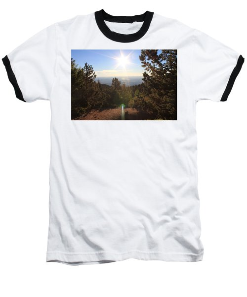 Sunrise Over Colorado Springs Baseball T-Shirt by Christin Brodie