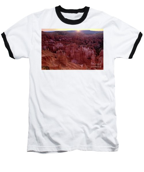Sunrise Over The Hoodoos Bryce Canyon National Park Baseball T-Shirt by Dave Welling