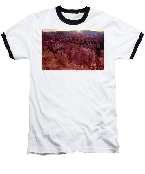 Sunrise Over The Hoodoos Bryce Canyon National Park Baseball T-Shirt