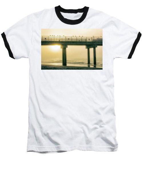 Baseball T-Shirt featuring the photograph Sunrise Pier In Alabama  by John McGraw