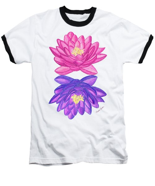 Sunrise Sunset Lotus Baseball T-Shirt