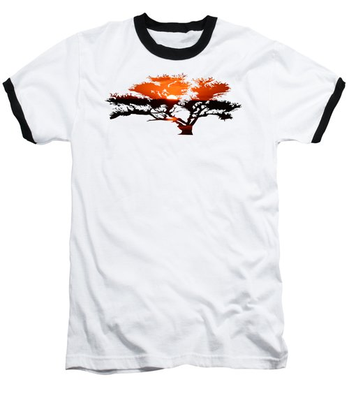 Sunrise Tree Baseball T-Shirt