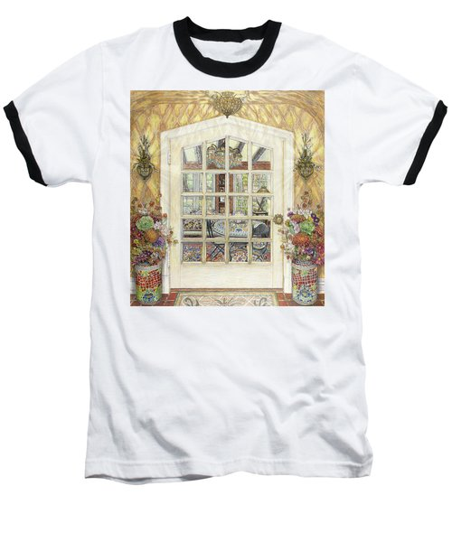 Sunroom Entrance Baseball T-Shirt by Bonnie Siracusa