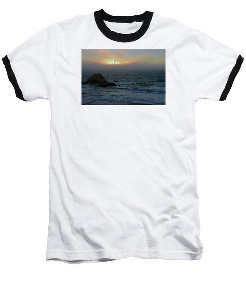 Sunset With The Bird Baseball T-Shirt
