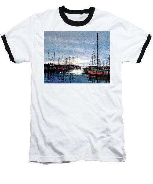 Sunset At Apollo Beach Baseball T-Shirt