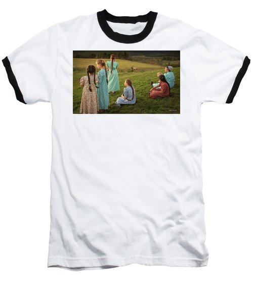 Sunset At Benezette Baseball T-Shirt