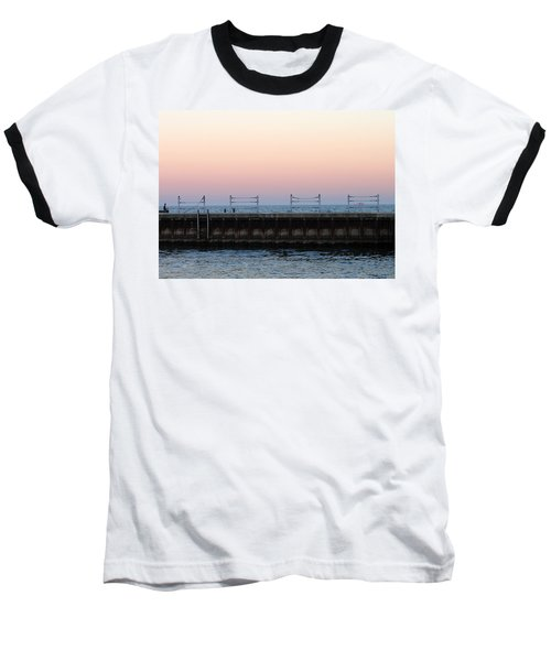 Sunset At Diversey Harbor Baseball T-Shirt