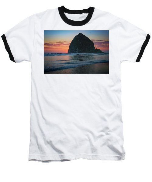 Baseball T-Shirt featuring the photograph Sunset At Haystack Rock by Rick Berk