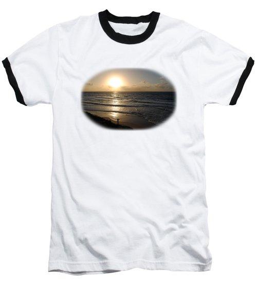 Sunset At Jaffa Beach T-shirt Baseball T-Shirt by Isam Awad