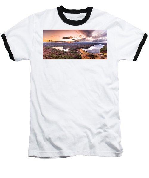 Sunset At Saville Dam - Barkhamsted Reservoir Connecticut Baseball T-Shirt by Petr Hejl