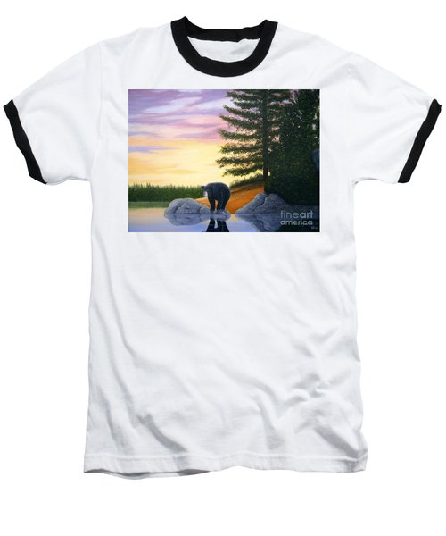 Sunset Bear Baseball T-Shirt
